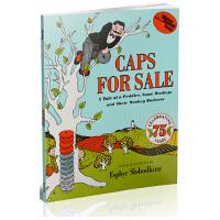 英文原版绘本 Caps for Sale 卖帽子 韵文 吴敏兰书单 绘本图画书