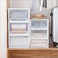 收纳箱塑料收纳盒储物箱衣服整理箱抽屉式透明有盖特大号箱子收纳