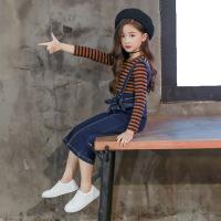 儿童两件套 女孩春季开学新款韩版修身显瘦百搭欧美个性简约裙时尚女式两件套女童套装
