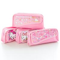 广博笔袋小学生笔盒可爱铅笔盒学生用品 颜色随机单个装 凯蒂猫KT85013