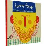 英文原版 Funny Face Find the surprises! 有趣的脸儿童艺术涂画书 Thames