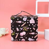 化妆包收纳包大容量多功能韩版简约洗漱包便携多层化妆箱手提大号