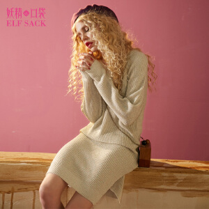 【每满200减100 上不封顶】妖精的口袋光的遐想秋冬装新款宽松套头长袖针织连衣裙子女