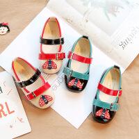 儿童皮鞋2020春季新款 女童公主鞋单鞋时尚小蜜蜂童鞋 宝宝鞋