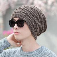 两用款加厚保暖骑车帽针织帽男冬季学生防风帽男士毛线帽围脖帽子