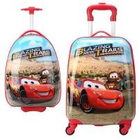 儿童拉杆箱女卡通KT旅行箱男万向轮行李箱18寸宝宝皮箱ABS幼儿园 乳白色 红色沙漠汽车
