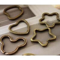 韩版 DIY自制 复古铜钥匙扣 钥匙环 【5个入】