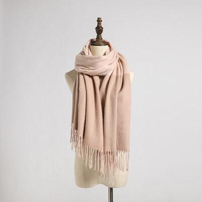 韩版加厚羊毛围巾披肩两用户外运动女士百搭情侣流苏羊绒围脖
