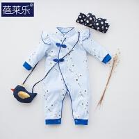 婴儿连体衣服宝宝新生儿哈衣0岁3个月潮童外出服2棉长袖5