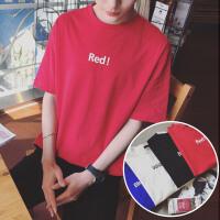 T恤男韩版圆领宽松打底衫情侣夏季新款风色短袖学生潮