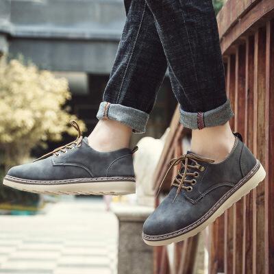 2019新款男士休闲鞋男鞋英伦工装靴时尚男靴潮皮鞋子808