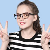 儿童学生防蓝光眼镜防辐射眼镜手机游戏上网护目镜男女大童平光镜