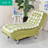 创意布艺懒人沙发 多功能单人折叠沙发床 阳台办公午休闲贵妃躺椅