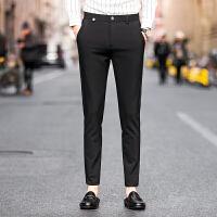 新款英伦绅士西裤男士修身休闲裤时尚百搭版新郎婚庆长裤男小脚裤