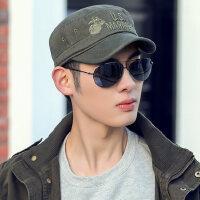 韩版潮时尚帽子男青年棒球帽棉质保暖平顶鸭舌帽休闲百搭男士军帽