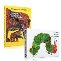 Eric Carle卡爷爷经典早教启蒙书2本套装The Very Hungry Caterpillar 好饿的毛毛虫 Baby Bear 廖彩杏 吴敏兰推荐图画书 幼儿英文原版绘本 亲子读物
