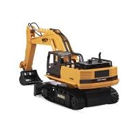 充电工程车模型3-6周岁男孩玩具儿童合金电动遥控挖土挖掘机