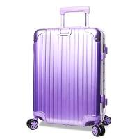 瑞士军刀紫色 20-29寸铝框拉杆箱 男女休闲时尚登机箱行李箱潮