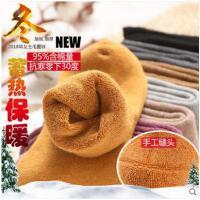 冬季女士中筒长袜加绒加厚毛圈袜羊毛袜睡眠袜羊绒毛巾毛圈纯棉袜