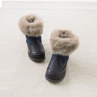 davebella戴维贝拉2017冬季新款棉靴 男童加绒保暖雪地靴DB5539