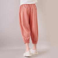 女童薄款八分裤夏装裤子儿童夏季外穿中裤中大童休闲裤