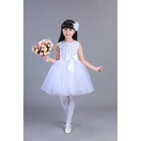 儿童合唱演出服女童公主礼服裙舞蹈蓬蓬纱裙表演服短袖裙子连衣裙