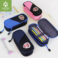 韩国kk树小学生笔袋儿童文具盒大容量铅笔盒男女孩多层简约笔袋