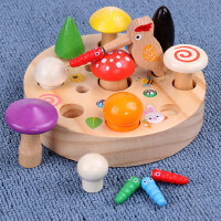 啄木鸟采蘑菇捉虫子游戏宝宝益智力开发动脑磁性钓鱼玩具1-2岁半
