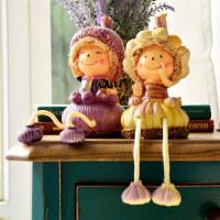 创意情人礼物生日礼品装饰品家居酒柜书柜儿童摆件吊脚娃娃摆设H