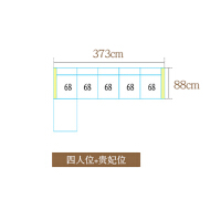 新中式全实木沙发组合现代简约大小户型橡木贵妃转角客厅整装家具 组合