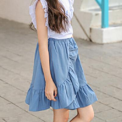 女童半身裙夏新款韩版儿童荷叶边度假公主短裙中大童夏天半截裙子 发货周期:一般在付款后2-90天左右发货,具体发货时间请以与客服协商的时间为准