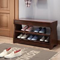 全实木换鞋凳储物凳家用门口翻盖鞋柜式三层大款可坐中式穿鞋矮凳