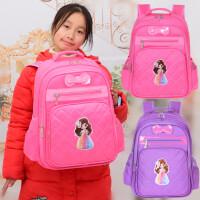 女童书包小学生儿童书包女一年级幼儿园小孩宝宝女孩5岁1-3-4-5-6 粉红色 蝴蝶结粉色小号