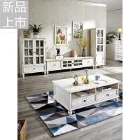 美式实木电视柜茶几组合套装简约客厅小户型地中海成套家具定制 组装