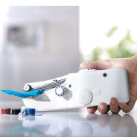 耀点100 电动缝纫机 小型袖珍电动缝纫机 迷你缝纫机白色