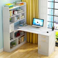 实木电脑桌宜家家居带书架简约现代书桌办公桌子旗舰家具店