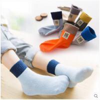 新款儿童纯棉袜子秋冬季中大男宝宝女童中筒袜1-3-5-7-9岁