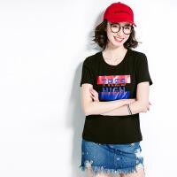 T恤女短袖夏季百搭上衣夏装2018新款学生韩范时尚T恤衫