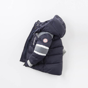 戴维贝拉冬季羽绒服 男童90白鸭绒羽绒服DB7023