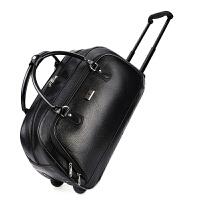 手提拉杆旅行包男大容量可折叠登机包PU皮防水女商务出差行李包 大