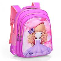 苏菲亚小学生书包女孩1-3-6一年级女童卡通书包幼儿园儿童双肩包2