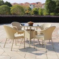 户外桌椅组合藤椅小茶几三件套简约露天阳台桌椅休闲庭院桌椅铁艺