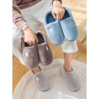 室内居家棉鞋男新款全包跟加绒棉鞋女 家用保暖毛绒男士棉拖鞋情侣厚底鞋子
