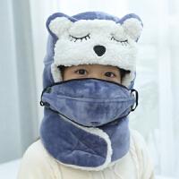 儿童雷锋帽男女孩冬季韩版可爱棉帽秋冬天宝宝保暖骑车防风帽