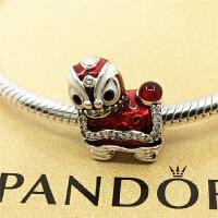 Pandora/潘多拉手链 东方舞狮925银珐琅串饰792043CZ