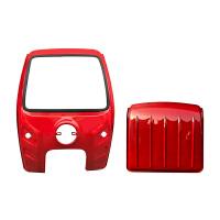 电动三轮车车头雨棚 驾驶室遮阳棚 钢化玻璃蓬 铁皮快递车棚新品