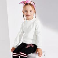 【2件3折到手价:65.4】小猪班纳童装女宝宝毛衣2019冬季新款儿童纯色针织衫小童套头线衣