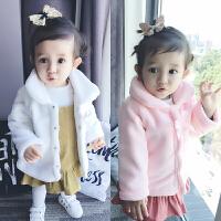 宝宝衣服春装0岁3月连帽上衣新生儿外套婴儿冬季加厚外出服