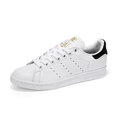 【新品】adidas阿迪达斯三叶草男女鞋运动板鞋STAN SMITH黑尾金标BY9985*赔十