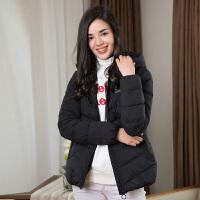 坦博尔羽绒服女短款时尚休闲连帽2018秋冬新品保暖外套TD18156
